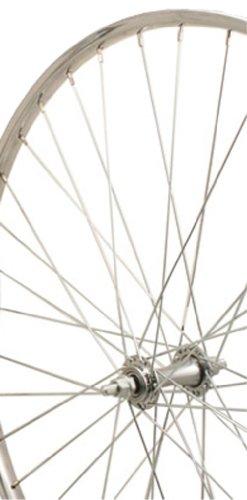Sta-Tru Silver Steel 36H Rim Front Wheel (26X1 3/8-Inch) by Sta Tru