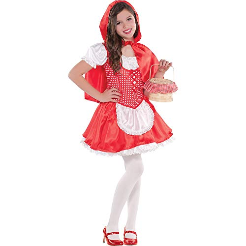 AMSCAN Classic Red Riding Hood Halloween Costume for Girls, Medium, with Included Accessories -