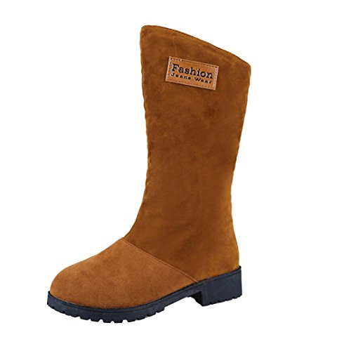 Khaki Ankle Martin Flat Trim Wedge Womens Ankle Boots Low Warm Biker Shoes AOJIAN wpx7qzBw