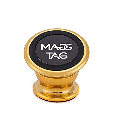 MaggTag Magnetic Phone Car Mount- Top Swivel Grip 360 Degree Rotation Magnetic Cell Phone Holder For Cars, Trucks- Best Universal Cell Phone Dash Mount Kit For iPhone 7/ 6/ 5, Galaxy S7, S6