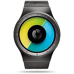 ZIIIRO Celeste Unisex Watches Gunmetal Colore