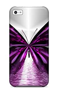 Frank J. Underwood's Shop AnnaSanders Perfect Tpu Case For Iphone 5c/ Anti-scratch Protector Case (butterfly)