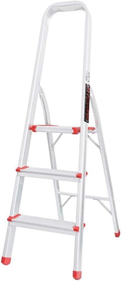 Xsgsgfs Escaleras Plegables peldaños, Escalera de 3 escalones con Patas Antideslizantes, Aluminio de Alta Resistencia, Escalera Plegable portátil para el hogar, Capacidad de Carga de hasta 150 kg: Amazon.es: Hogar
