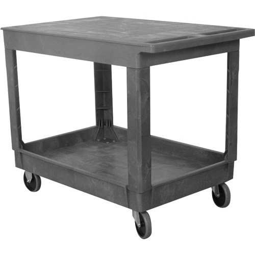 "Wesco Industrial Products 270493 Plastic Flat-Top Standard Service Cart, 2 Trays, 500-lb. Load Capacity, 40.25"" L x 25.5"" W x 32.5 H from Wesco"