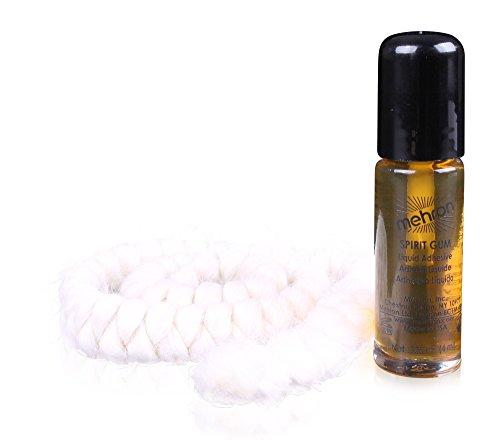 Mehron Makeup Spirit Gum (.125 oz) with Crepe Hair 12-inch Braid -
