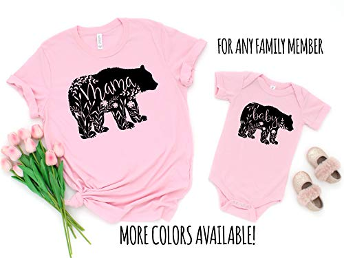 Mommy and Me Shirt Set Mama Bear Baby Shirts Mother and Daughter Shirts Mothers Day Shirts Mothers Day Gift Mommy and Me Outfits ()