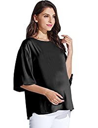 Sweet Mommy Maternity and Nursing Free Fit Blouse Top with Bell Sleeves
