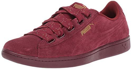 (PUMA Women's Vikky Ribbon Sneaker, Pomegranate, 9 M US)