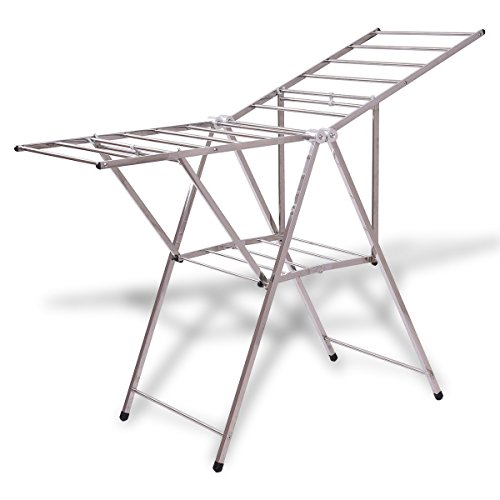 "58"" Folding Clothes Drying Rack"