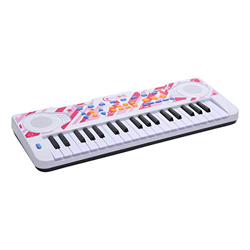 WITKA 37 Keys Kids Piano Multi-Function Electronic Keyboards with Microphone (Pink)