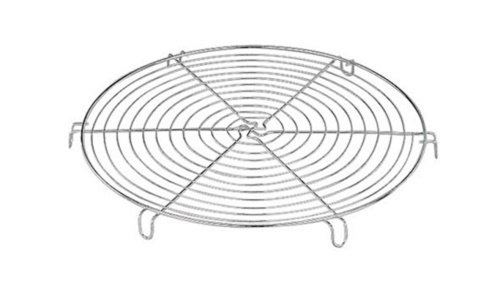 World Cuisine 47098-30 cooling rack, 11.88in, D 11 7/8in (Tinned Cooling Rack)
