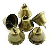RuiLing 12-Pack 38mm/1.5in Small Vintage Bronze Jingle Bells Doorbell Pet Dog Training Bell Pendants