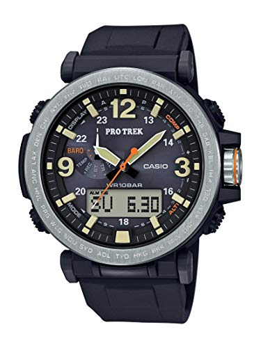 Casio Men's PROTREK Japanese-Quartz Watch with Resin Strap, Black, 23.77 (Model: PRG-600-1CR)