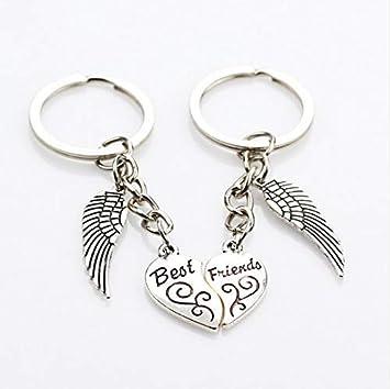 Llavero con alas de corazón Best Friends para amigos: Amazon ...