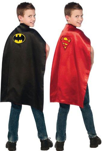 DC Comics Reversible Batman and Superman Cape (Halloween Stores New York)