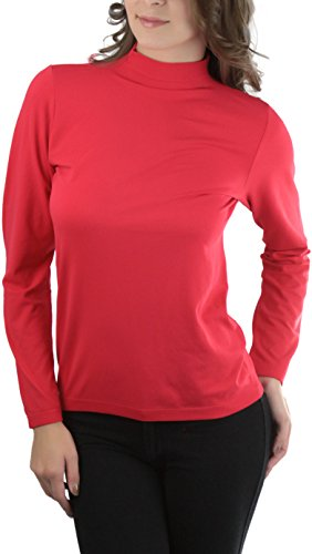 ToBeInStyle Women's Long Sleeve Turtle Neck Top - Red - One Size - Lady Diro