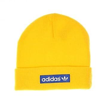 2a8c8218138 adidas Originals Woven Logo Beanie Hat Blue
