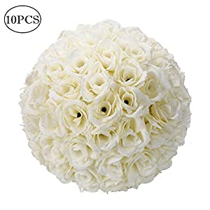 Eine-Shop 10Pcs 25CM Wedding Flower Balls Romatic Wedding Kissing Balls Bouquet Indoor/Outdoor Decoration Seven Colors Optional 66