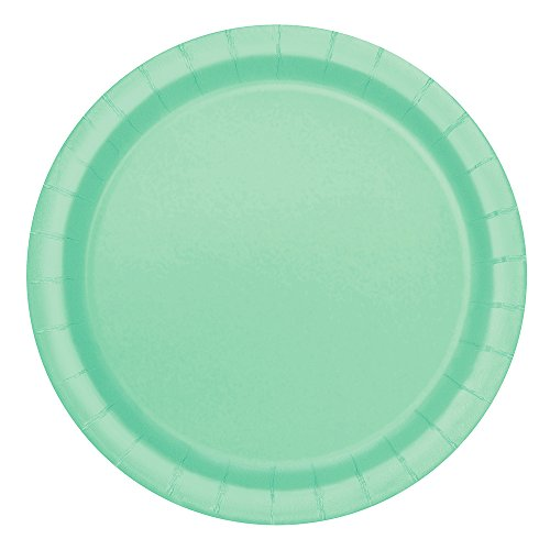 Mint Paper Cake Plates, 20ct - Plate Green Buffet