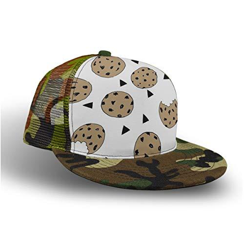 YongColer Unisex Camo Baseball Cap Adjustable Trucker Hat Gift (Cookies Food Chocolate Chip)