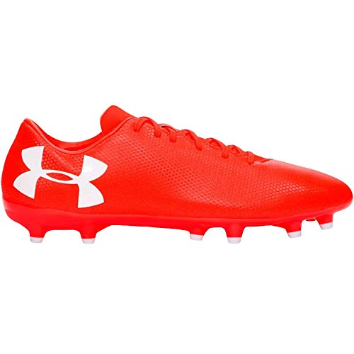 Under Armour Men's UA Force 3.0 FG Football Boots, Purple (Neon Coral 900), 8.5 UK 43 EU