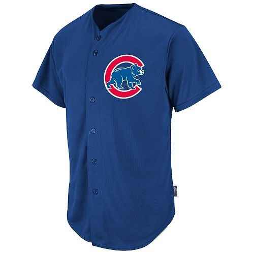 Chicago Cubs 'MLB COOL BASE - FULL BUTTON' Licensed Major League Baseball Replica Jersey (Adult XL)