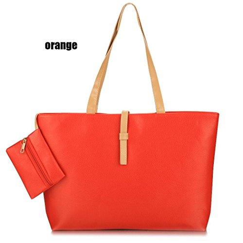 Las Bolso Bolsos Mujeres Orange Cioler Hombro Moda De Mujer Cuero Beautybox Bandolera Sintético Mano zxWq5wp0
