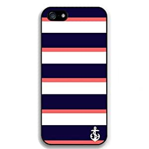 Stirp Anchor Snap on Case Cover for Apple Iphone 5 Cellphone Case