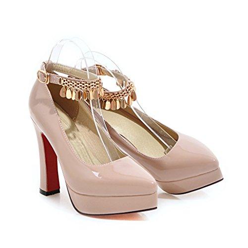 In Sexy Metallo Fibbia Scarpe Decorazioni Rosa Color Alto Tacco Carolbar Fashion Donna Con wqIBaAUC