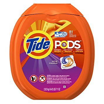 Tide PODS Spring Meadow HE Turbo Laundry Detergent Pacs 81-load Tub - Pack of 5 by Tide O