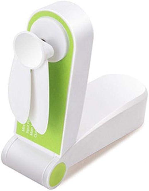 Ventiladores plegables de bolsillo USB Ventiladores portátiles Ventiladores pequeños Originalidad Pequeños electrodomésticos Electrodomésticos Ventilador de escritorio -verde_Estados Unidos