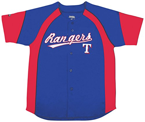 MLB Texas Rangers Youth Fashion Script Jersey, Royal, Medium