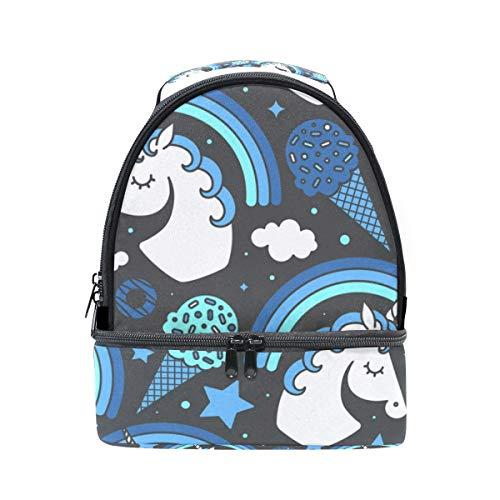 Bolsa para escuela unicornio el con con Alinlo la correa diseño ajustable térmica de pincnic de hombro para pAx71qdT