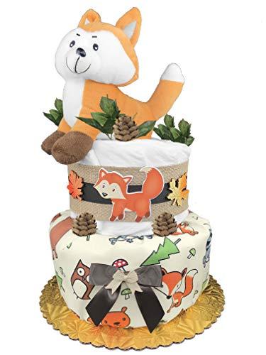 Fox Diaper Cake - Boy Baby Shower Gift - Woodland Creatures