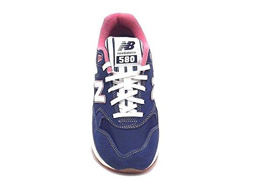 New Balance scarpa donna, modello WRT580RH, sneaker in nabuk e nylon, colore blu