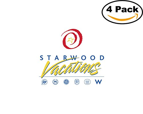 Starwood Office (Starwood Vacations 4 Stickers 4X4 inches Car Bumper Window Sticker Decal)