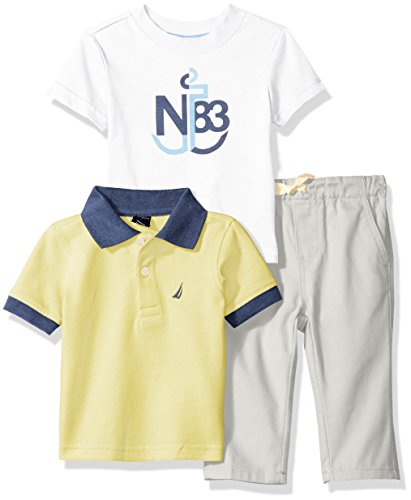 nautica-baby-boys-short-sleeve-polo-and-tee-three-piece-set-light-yellow-12-months