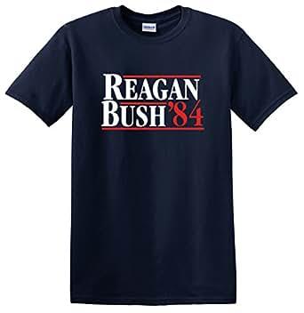 Mens Reagan Bush 84 Republican Presidential Election 2016 Tee Small-nvy