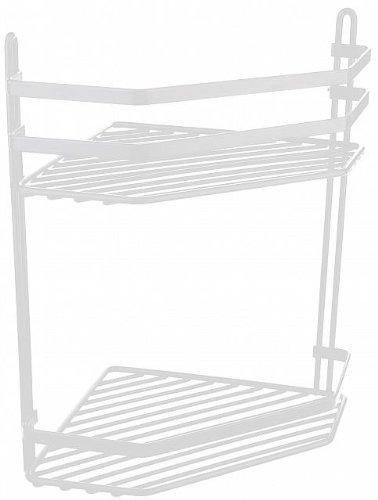 Swedish White 2 Shelf Corner Caddy with 5 Year Guarantee Size: 20X30X20 by Satina