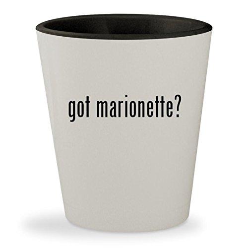 Marionette Doll Costume Diy (got marionette? - White Outer & Black Inner Ceramic 1.5oz Shot Glass)