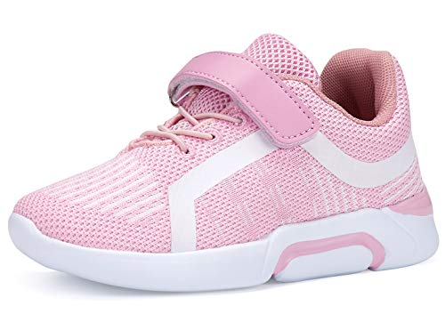FANSITE Kid's Lightweight Sneakers Boys Girls Toddler Cute Casual Running Shoes 10 Pink ()