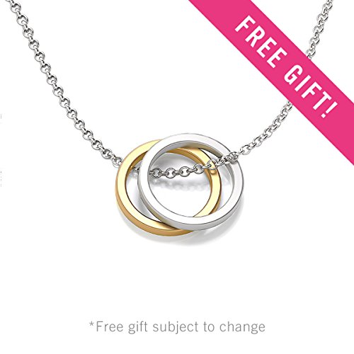 10K Yellow Gold 'Interlocked In Love' Heart Name Necklace with a 16'' Chain by JEWLR by TSD (Image #4)