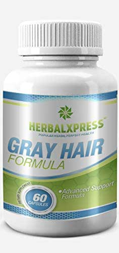 Anti-gray Hair Formula 60 Capsules – for getting rid of Gray Hair - Maintain Strong Healthy & Natural Hair Color.