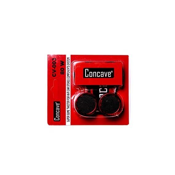 CONCAVE CV-003 Car Coaxial High Efficiency Super Dome Tweeter 250W Max(Red)