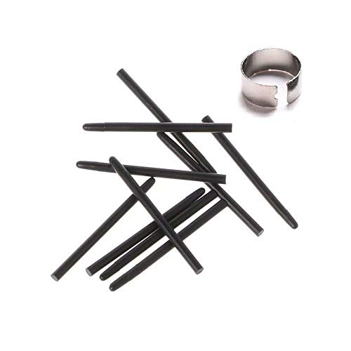 10 pcs Black Standard Pen Nibs Fits for WACOM Bamboo: CTE, MTE, CTL, CTH Serial Tablet's Pen w/Removal Ring