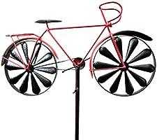 SK Style Bicicleta de carreras roja para jardín, molinillo de ...