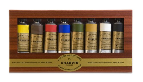 Charvin Extra Fine Oil Color Salutation Set of 8 60 ml Tubes - Assorted Colors by Charvin Extra Fine Colours