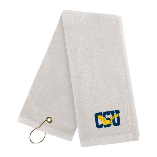 Coppin White Golf Towel 'Official Logo' by CollegeFanGear