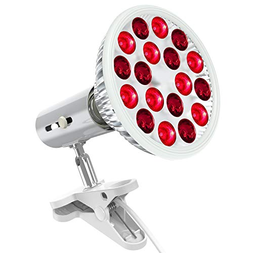 Red Light Therapy Lamp with Light Socket, Bestqool 660nm & 850nm 18 LEDs Near Infrared Light Therapy Devices, High…