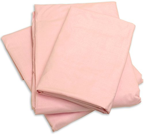 Excellent Art Cot Sheets (Fitted, Flat, Sets), 4 Piece Cot Sheet and Pillow Case Set - pink 1 cot sheet 33